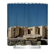 Waiting Tablets At Acropolis Shower Curtain