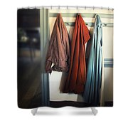 Waiting To Go Out Shower Curtain by Margie Hurwich