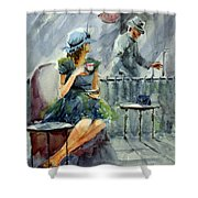 Waiting With Hope Shower Curtain