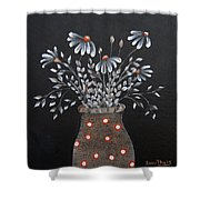 Wake Up And See The Flowers Shower Curtain