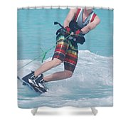 Wakeboarding Style Shower Curtain
