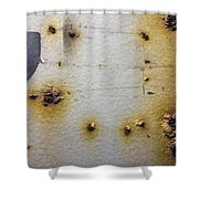 Waking Rust Shower Curtain