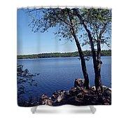 Walden Pond Saugus Ma Shower Curtain by Barbara McDevitt