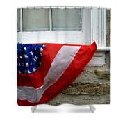 Waldschmidt Homestead And Bunting Shower Curtain