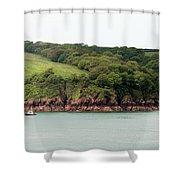 Wales Coastline Panorama Shower Curtain