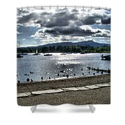 Wales On The Sea Shower Curtain