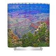 Walhala Overlook On North Rim Of Grand Canyon-arizona  Shower Curtain