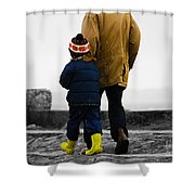 Walk Alongside Me Daddy Shower Curtain