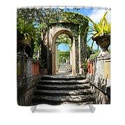 Walk In Vizcaya Gardens Shower Curtain