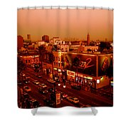 Walk Of Fame Hollywood In Orange Shower Curtain