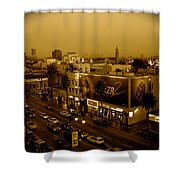 Walk Of Fame Hollywood In Sepia Shower Curtain