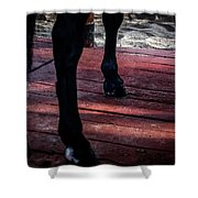 Walk On Red Shower Curtain