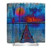 Walk On Water 03 Shower Curtain