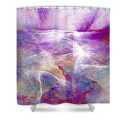 Walk On Water - Abstract Art Shower Curtain