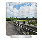 Walk On Wetlands Shower Curtain