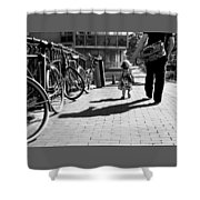 Walk Safely Little Girl  Shower Curtain