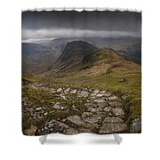 Walk To Hay Stacks Lake District Shower Curtain