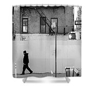 Walk Walk. New York. Shower Curtain
