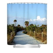 Walk Way To Beach Shower Curtain
