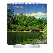Walk With Me To The Other Side Shower Curtain