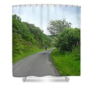 Walking A Lonely Road Shower Curtain