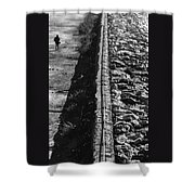 Walking Alone Shower Curtain