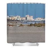 Walking Along Cocoa Beach Shower Curtain