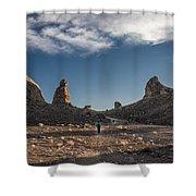 Walking Among Giants Shower Curtain