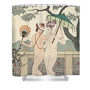 Walking Around Naked As Much As We Can Shower Curtain by Joseph Kuhn-Regnier