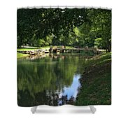 Walking Bridge Shower Curtain