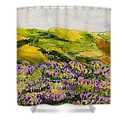 Walking Hills Shower Curtain