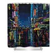 Walking In The City Taipei  Shower Curtain