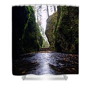 Walking In The Gorge Shower Curtain