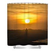 Walking In The Sunrise Shower Curtain