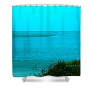 Walking In The Water At Isle Of Palms Shower Curtain