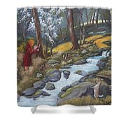 Walking In The Woods One Day Shower Curtain