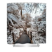 Walking Into The Infrared Jungle 3 Shower Curtain
