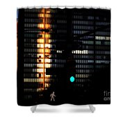 Walking Man - Architecture Of New York City Shower Curtain