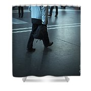 Walking On A Train Station Shower Curtain