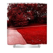 Walking On Mars Shower Curtain