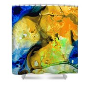 Walking On Sunshine - Abstract Painting By Sharon Cummings Shower Curtain