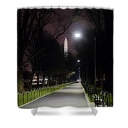 Walking Path Along The Reflecting Pool Shower Curtain