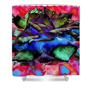 Walking Softly 2 Shower Curtain