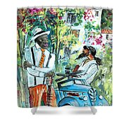 Walking Stick Man At The Blues Festival In Cazorla Shower Curtain