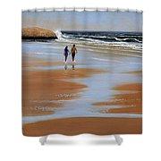 Walking The Beach Shower Curtain