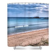 Walking The Beach On A Peaceful Morning Shower Curtain