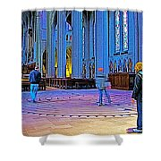 Walking The Indoor Labyrinth In Grace Cathedral In San Francisco-california Shower Curtain