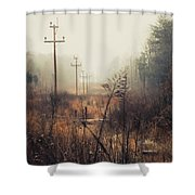Walking The Lines Shower Curtain