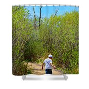 Walking The Ox Bow 2 Shower Curtain