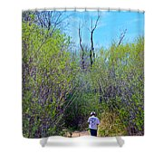 Walking The Ox Bow Shower Curtain